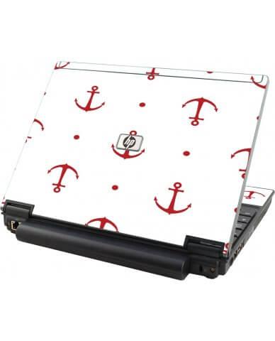 Red Anchors HP Elitebook 2530P Laptop Skin