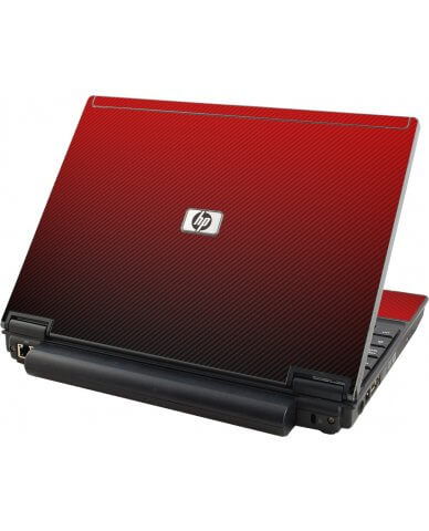 Red Carbon Fiber HP Elitebook 2530P Laptop Skin