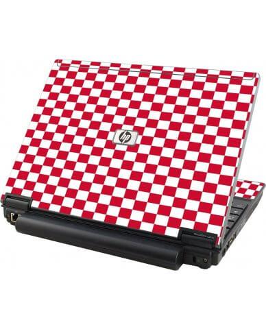 Red Check HP Elitebook 2530P Laptop Skin