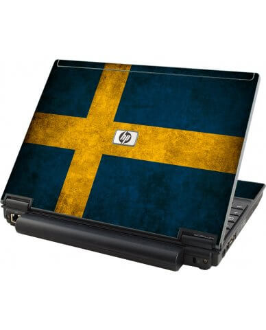 Swedish Flag HP Elitebook 2530P Laptop Skin