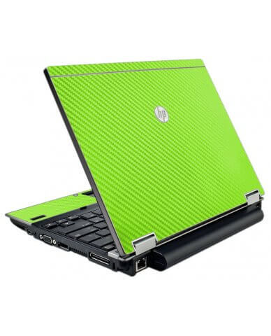 Green Carbon Fiber HP Elitebook 2540P Laptop Skin