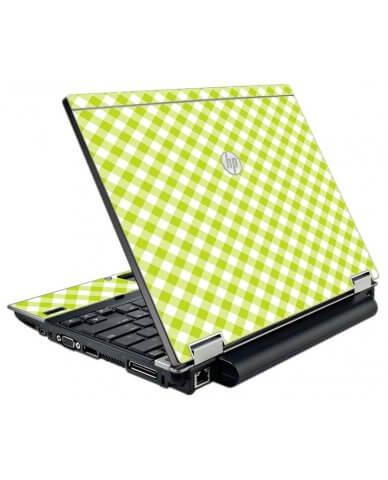 Green Checkered HP EliteBook 2540P Laptop Skin