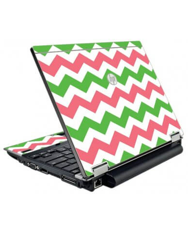 Green Pink Chevron HP Elitebook 2540P Laptop Skin