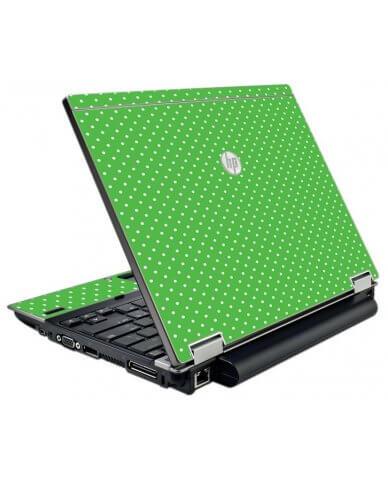 Kelly Green Polka HP EliteBook 2540P Laptop Skin