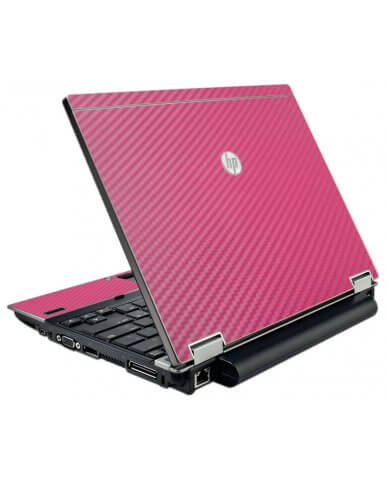 Pink Carbon Fiber HP Elitebook 2540P Laptop Skin