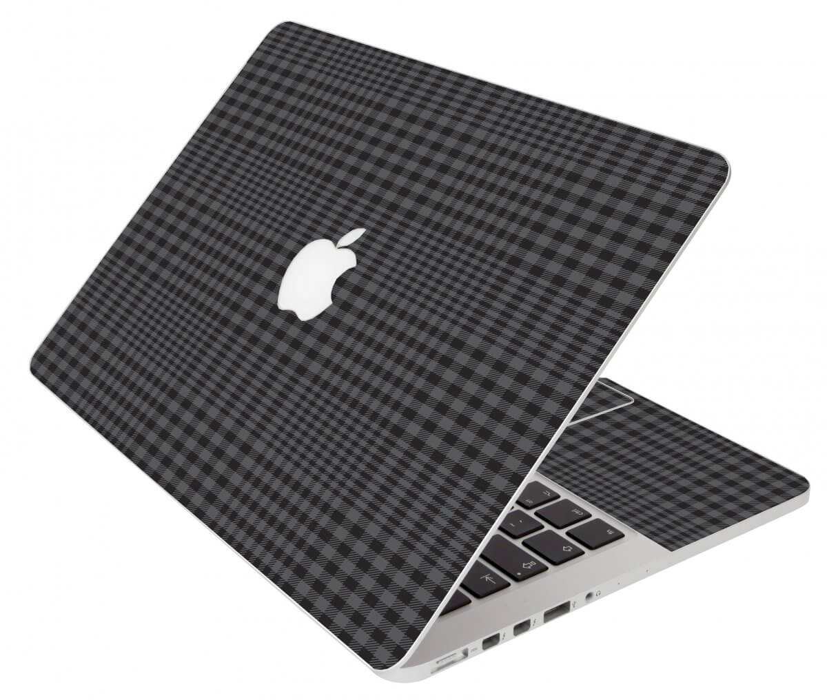 Black Plaid Apple Macbook Original 13 A1181 Laptop Skin