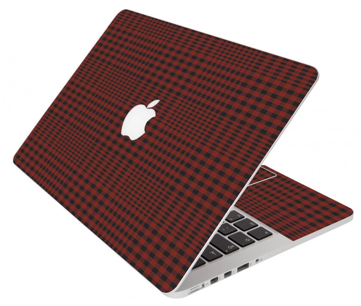 Red Flannerl Apple Macbook Pro 13 Retina A1502 Laptop  Skin
