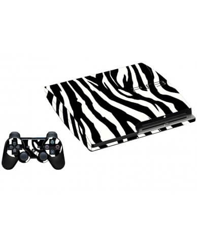 ZEBRA PLAYSTATION 3 GAME CONSOLE SKIN