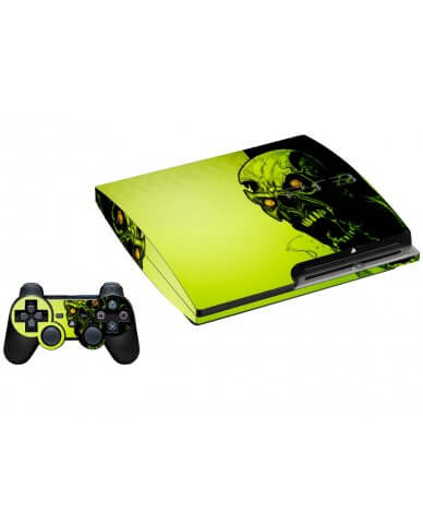 ZOMBIE FACE PLAYSTATION 3 GAME CONSOLE SKIN