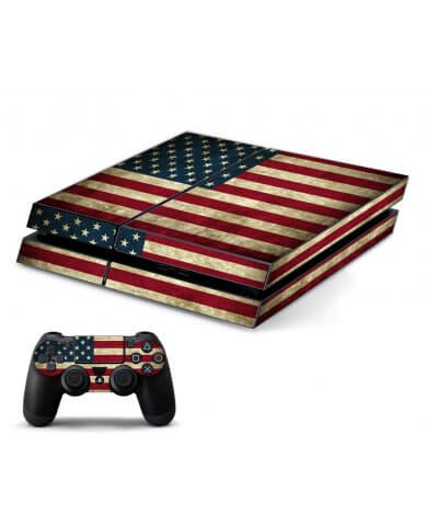 AMERICAN FLAG PLAYSTATION 4 GAME CONSOLE SKIN