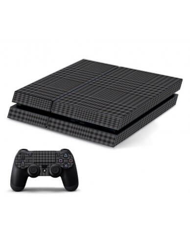 BLACK PLAID PLAYSTATION 4 GAME CONSOLE SKIN