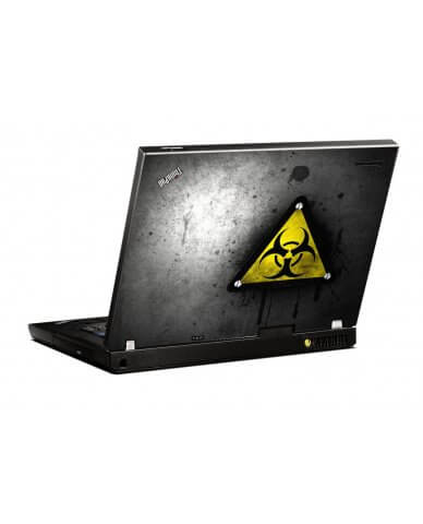 Black Caution IBM R500 Laptop Skin