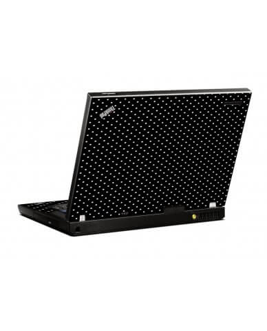 Black Polka Dots IBM R500 Laptop Skin