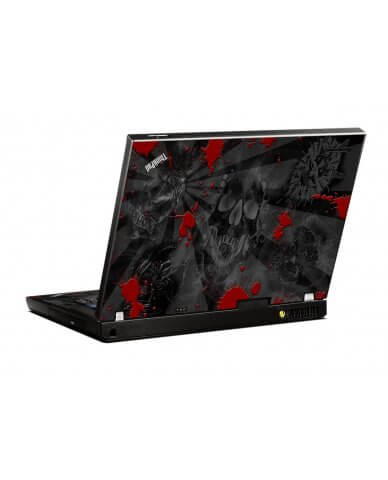 Black Skull Red IBM R500 Laptop Skin