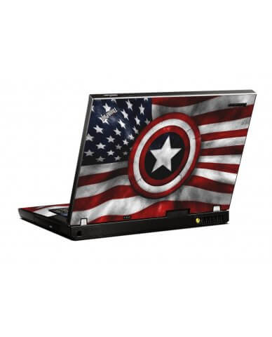 Capt America Flag IBM R500 Laptop Skin