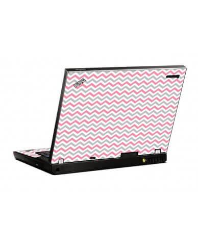 Pink Grey Chevron Waves IBM R500  Laptop Skin