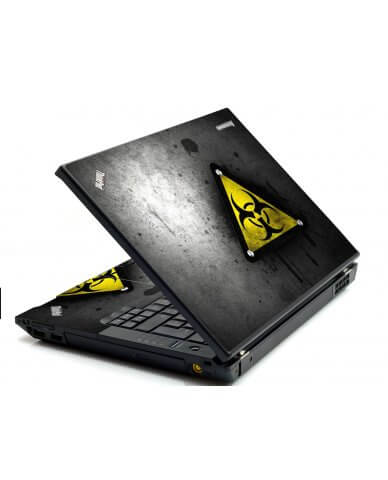 Black Caution IBM Sl400 Laptop Skin