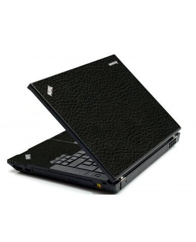 Black Leather IBM Sl400 Laptop Skin