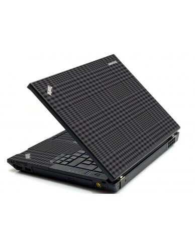 Black Plaid IBM Sl400 Laptop Skin