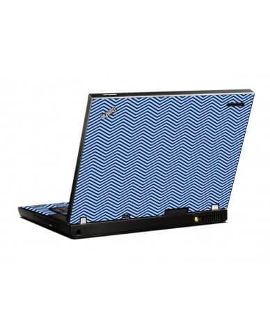 Blue On Blue Chevron IBM T400 Laptop Skin