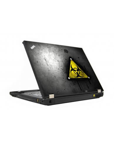 Black Caution IBM T410 Laptop Skin