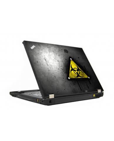 Black Caution IBM T410 Laptop Skin