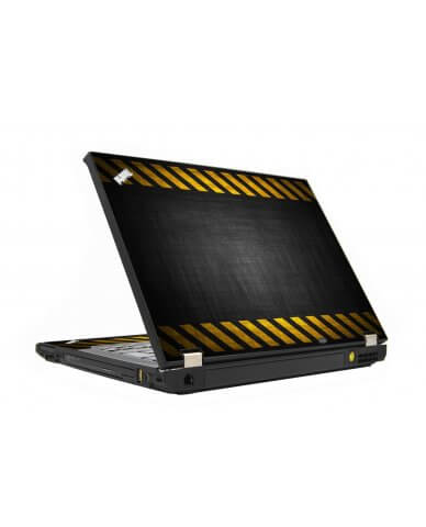 Black Caution Border IBM T410 Laptop Skin