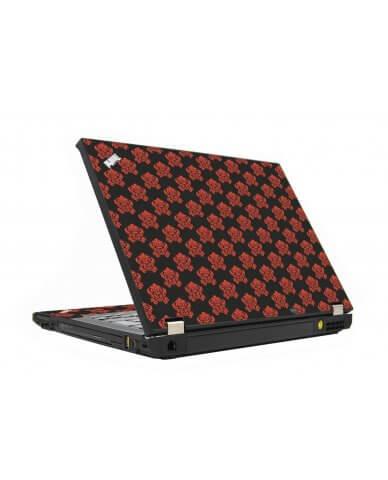 Black Flower Burst IBM T410 Laptop Skin