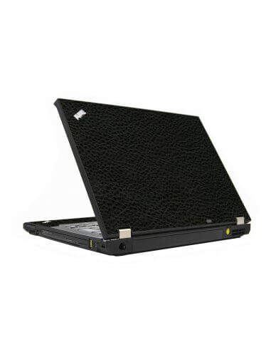 Black Leather IBM T410 Laptop Skin