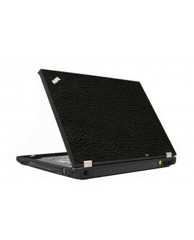 Black Leather IBM T410 Laptop Skin