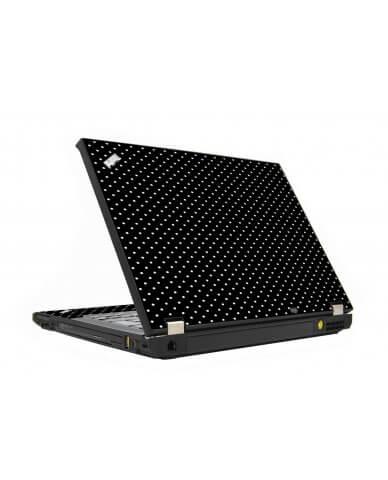 Black Polka Dots IBM T410 Laptop Skin