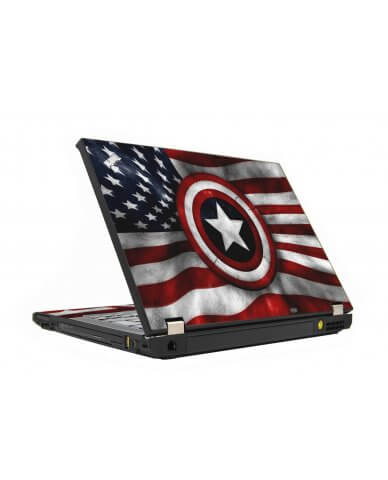 Capt America Flag IBM T410 Laptop Skin