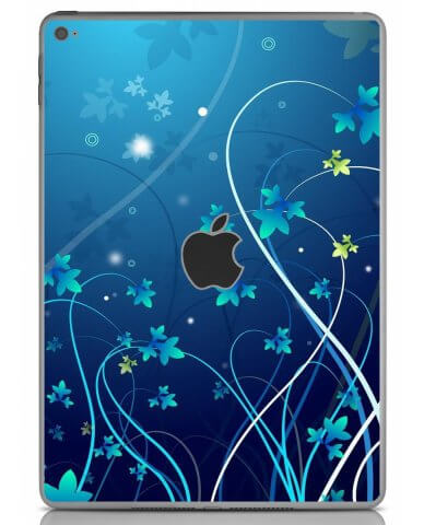 BLUE FLOWER Apple iPad Air 2 A1566 SKIN
