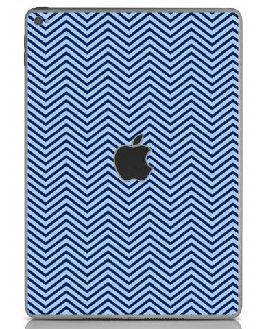 BLUE ON BLUE CHEVRON Apple iPad Air 2 A1566 SKIN