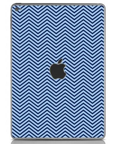 BLUE ON BLUE CHEVRON Apple iPad Air 2 A1566 SKIN