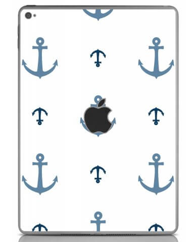 MULTI BLUE ANCHORS Apple iPad Air 2 A1566 SKIN
