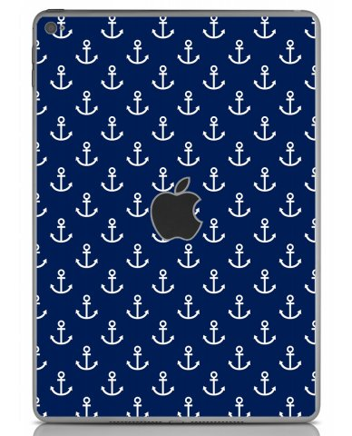 NAVY BLUE ANCHORS Apple iPad Air 2 A1566 SKIN