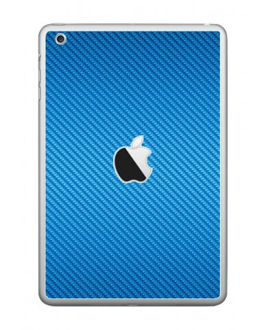 BLUE TEXTURED CARBON FIBER Apple iPad Mini A1432 SKIN