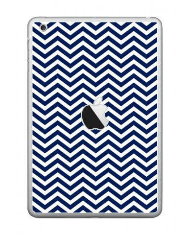 BLUE WAVY CHEVRON Apple iPad Mini A1432 SKIN