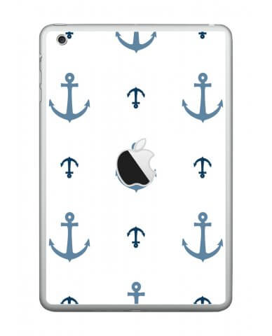 MULTI BLUE ANCHORS Apple iPad Mini A1432 SKIN