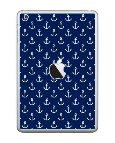 NAVY BLUE ANCHORS Apple iPad Mini A1432 SKIN
