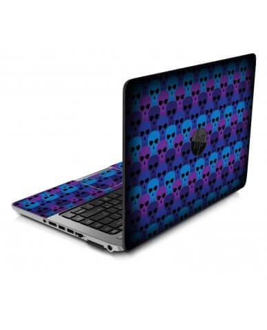 BLUE SKULLS HP ProBook 850 G1 Skin